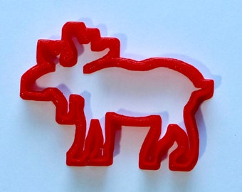 "Cookie Cutter ""Moose - Elk""  - 3D Printed"