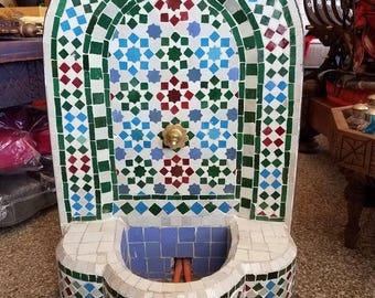 Colorful Mini Moroccan Fountain All Glazed Mosaic