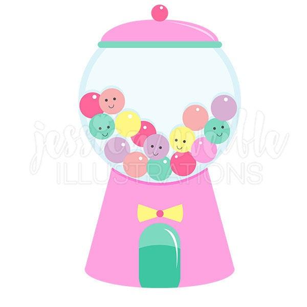 girly gumball machine cute digital clipart gumball clip art rh etsy com gumball machine clipart black and white gumball machine clip art free
