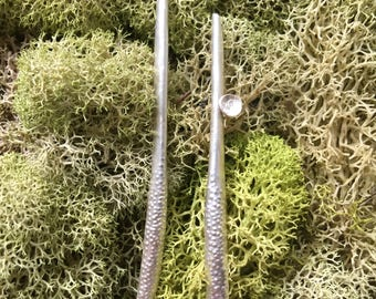 Long pod earrings