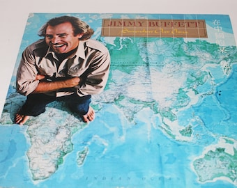 Somewhere Over China Jimmy Buffett Vinyl Record 1980 with Concert Ticket and Booklet