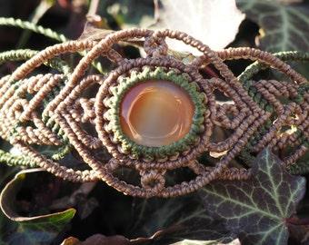 Bracelet with carnelian stone