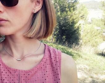 Earrings silver Minimal Tube - Minimal Tube silver stud earrings