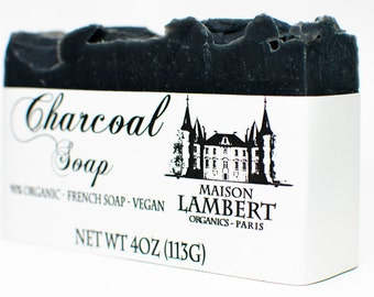 ORGANIC SOAP - Charcoal Soap - Handmade Soap, Men Soap, Tea Tree Soap, Vegan Soap, for Acne Skin, Oily Skin. Neem oil soap - neem soap