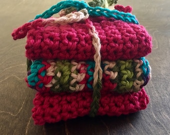 Cotton Washcloths: The Country Reds Collection