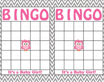 Blank baby shower bingo cards printable party baby girl blank baby shower bingo cards printable party baby boy instant download pink gray chevron owl baby shower gift bingo g007 maxwellsz