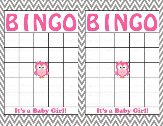 It is a graphic of Enterprising Printable Baby Bingo Cards