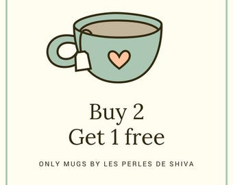 Buy 2 personalized mugs, get in 3-2 mugs purchased plus 1 free - mug-personalized - promotion