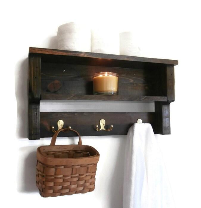 Rustic Chunky Bathroom Shelves-Pallet Wood Wall Shelf-2 Shelf