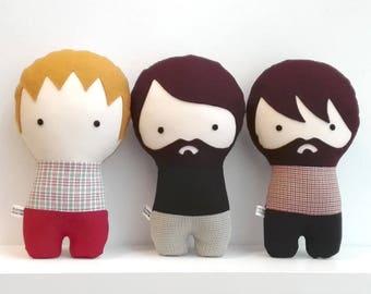 Muñecos de tela personalizados Muñecas de tela Regalo personalizado Regalo para hombre Muñecos de trapo