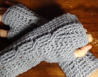 crochet fingerless gloves (crocheted fingerless gloves)