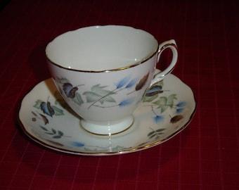 Colclough Linden (1987) cup and saucer VGU