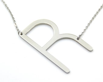 Gifts For Her, Personalized Initial Necklace, Personalized Necklace, Silver Necklace For Her, Silver Initial Necklace, Initial Necklace