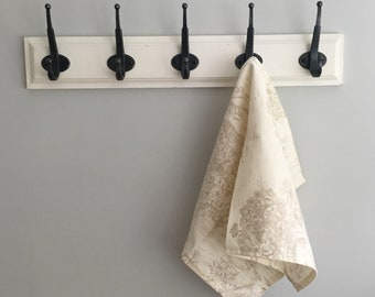 Farm House Tea or Hand Towel Khaki soft beige IN STOCK