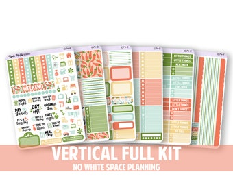 1074-FK // VERTICAL 6 Piece Full Kit - No White Space Planning // Cinco De Mayo Collection // Planner Stickers