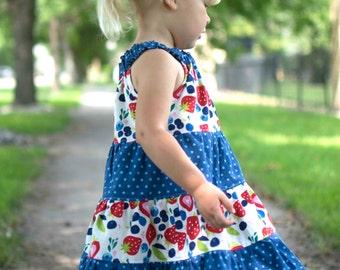 Darling Daisy Dress PDF pattern sizes 12m to 8