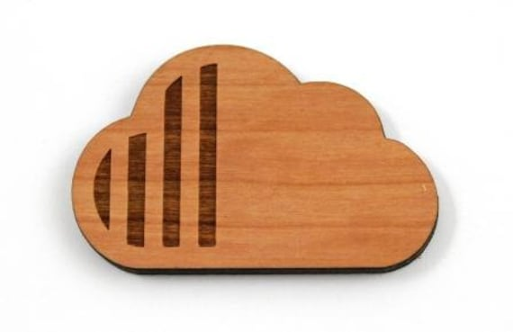 Laser Cut Supplies-1 Piece.Cloud Pattern Charms - Cherry Wood Laser Cut Cloud -Brooch Supplies-  Little Laser Lab Sustainable Wood Products