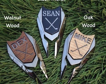 Personalized Engraved Golf Ball Marker Divot Tool,Fathers Day Golf Gifts for Men Boyfriend Birthday Gift for Dad Husband,Anniversary Gift