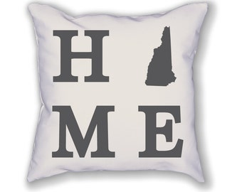 New Hampshire Home State Pillow
