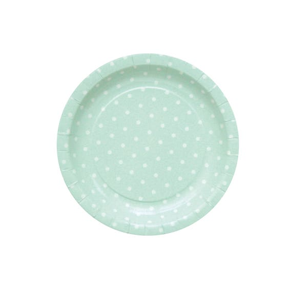10 Light Green Paper Platas Baby Party Plates Light Green Baby Shower Plates Diner Plates Cake Paper Plates Polka Dot Plates Green Plates from ...  sc 1 st  Etsy Studio : light green paper plates - pezcame.com