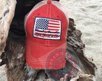 American, Flag, Patriotic,Blessed, Nation, Christ, Lord, Christianity, Monogram, Savannah, Southern, Vintage