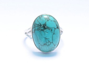 Natural Turquoise Ring, Silver Turquoise Ring, Turquoise Stone Ring, Turquoise Ring, Stacking Rings, US 3 4 5 6 7 8 9 10 11 12 13 14,    34