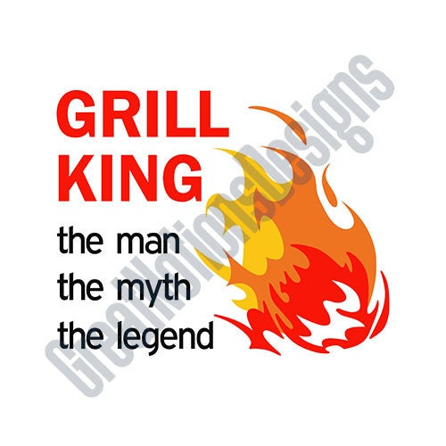Grill King Svg Htv Vinyl Cutting Graphic Art From