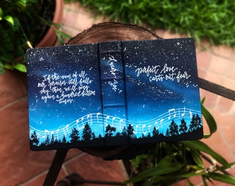 Hand Painted Bible // Galaxy 'Worship Chords'