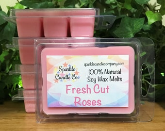 FRESH CUT ROSES Soy Wax Melts - Scented Wax Tarts - 1 Package - Floral - Pink