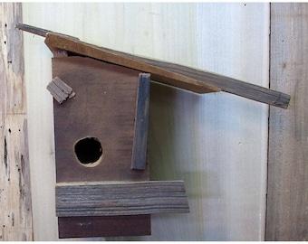 Custom Recycled Wood Bird House