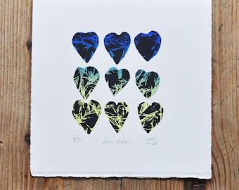 Love Petals , Limited Edition Print, Printmaking, Wall Art, Screenprint
