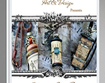 Cork Ornament Book Vol 1, cork tutorial, PDF cork tutorial,  cork E- book, cork ornamnet tutorial, DIY craft idea, Step by step instructions
