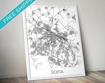 Sofia Map Print