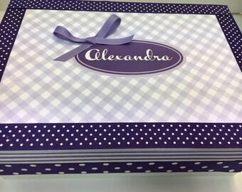Girl's Keepsake Box  Personalized