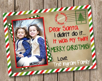Dear Santa Merry Christmas Card