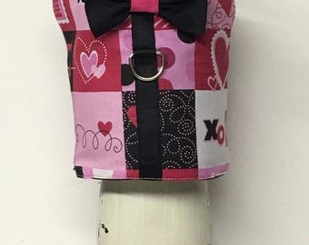 Valentine's Day Dog Harness Vest, Dog Harness Vest, Cat Harness Vest, Dog Vest, Dog Clothes, Dog Clothing
