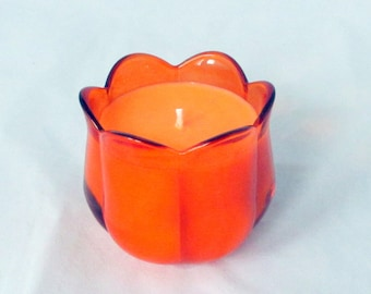 Orange Clove Candle, soy candle, tulip candle, soy wax candle, scented soy candle, decorative candle, container candle, unique candle