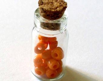 1 mini glass bottle and Cork AC325 10x20mm