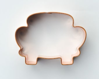 Just Married Wedding Car cookie cutter, ecrandal style B copper cutter, available in several sizes