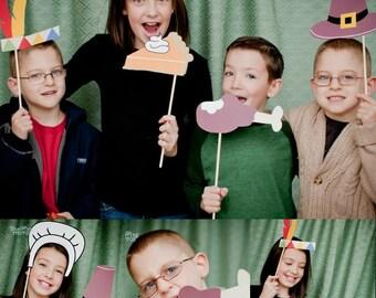 Thanksgiving PHOTOBOOTH PROPS Printable (11 pcs.) -  diy printable / downloadable pdf -