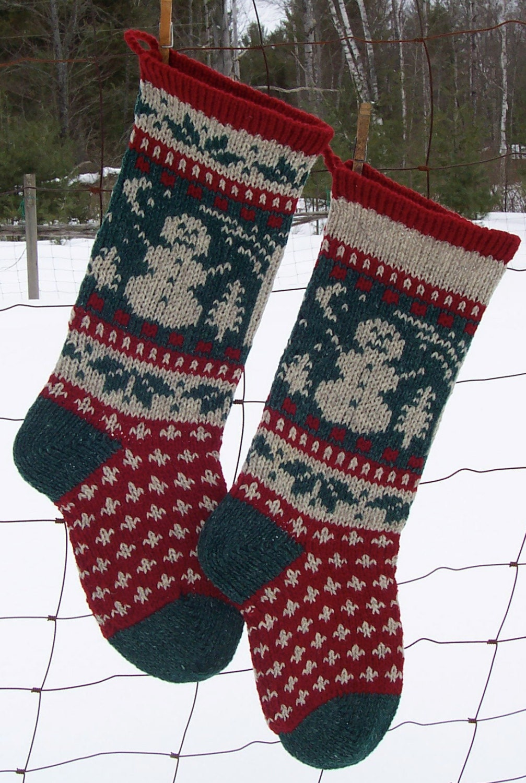 Digital SNOWMAN Knitting Pattern Downloadable Circular