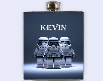 Star Wars, Flask, Storm trooper, personalize,Custom Flask,Star Wars flask