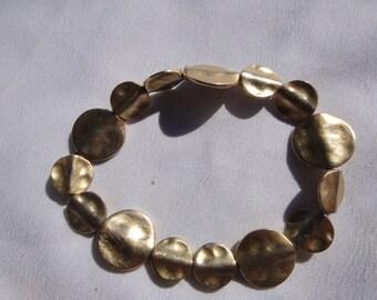 retro gold tone bracelet stretches vintage jewelry vintage bracelet