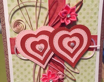 Double Hearts Card