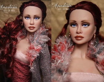 "OOAK reroot repaint Fashion Royalty Poppy Parker friend Holly / Loni 12"" nude doll -- Anastasia -- Laurie Lenz"