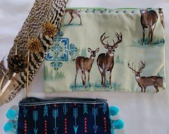 hand made, deer, make up, wallet