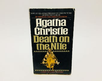Vintage Mystery Book Death on the Nile by Agatha Christie 1978 Movie Tie-In Edition Paperback