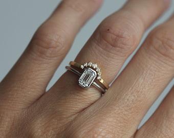 Platinum Engagement Ring, Platinum Diamond Ring, Emerald Cut Diamond Ring, Diamond Solitaire Ring, Solitaire Engagement Ring