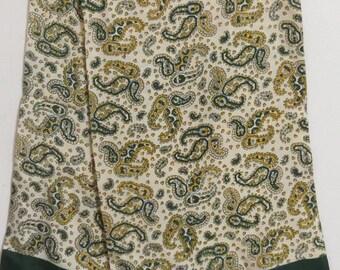"Long Mens Formal Dress Silk Scarf 12"" X 45""  #011"