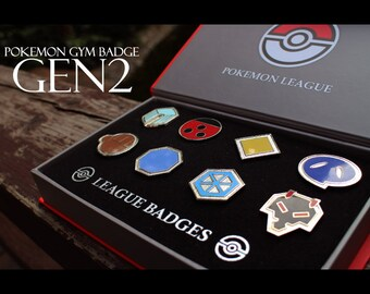 Pokemon GYM Badge collection - Gen 2 Johto Region